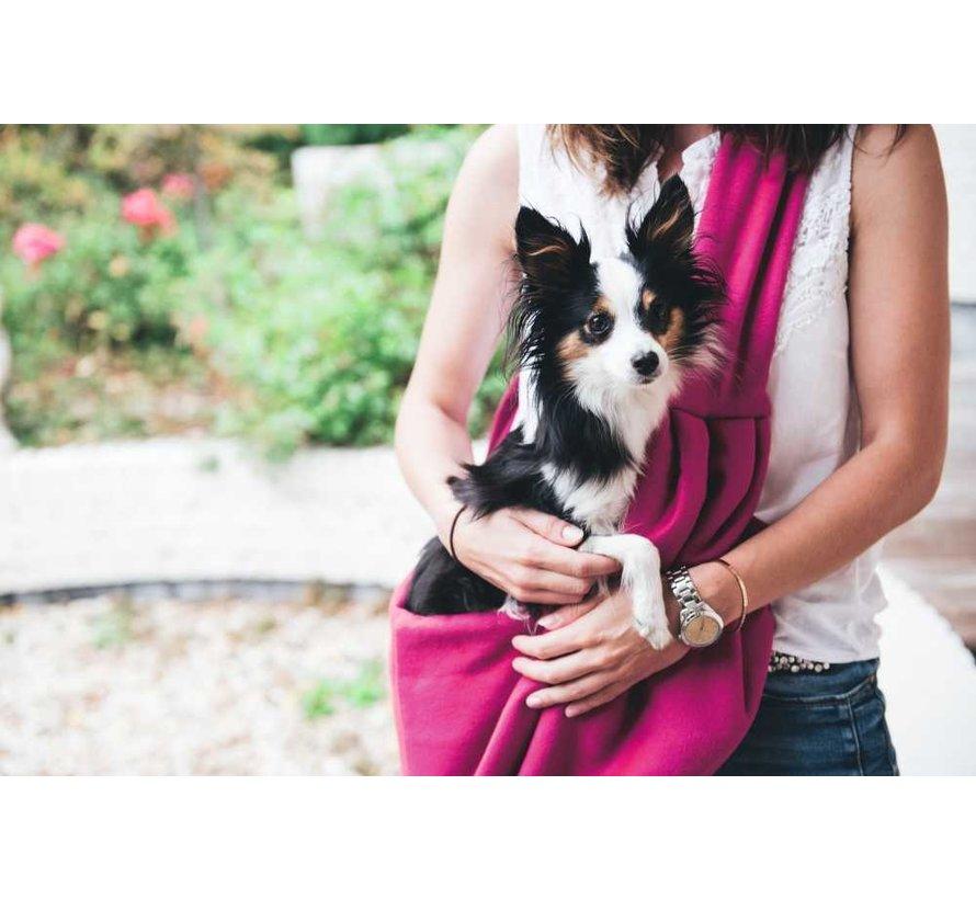Hondendraagtas Los Angeles Roze