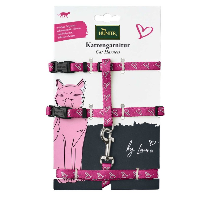 Cat Harness Laura Pink