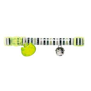 Hunter Cat Collar Glossy Stripes Green