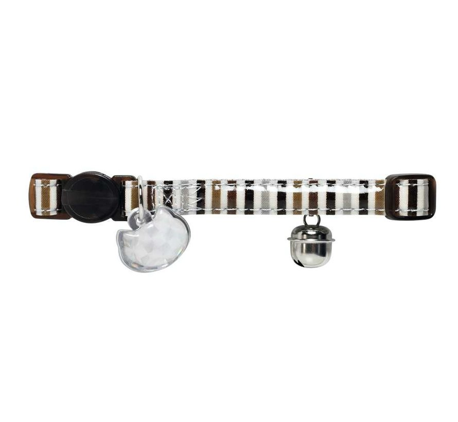 Cat Collar Glossy Stripes Brown