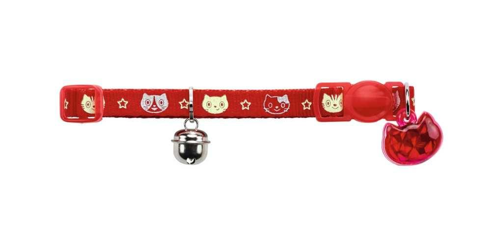Kattenhalsband Krokom Rood