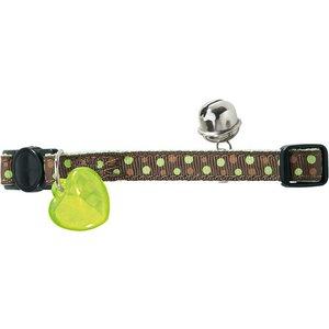Hunter Cat Collar Dots Green