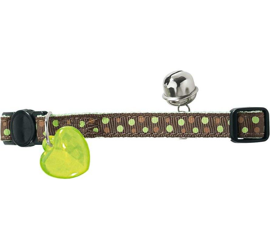 Cat Collar Dots Green