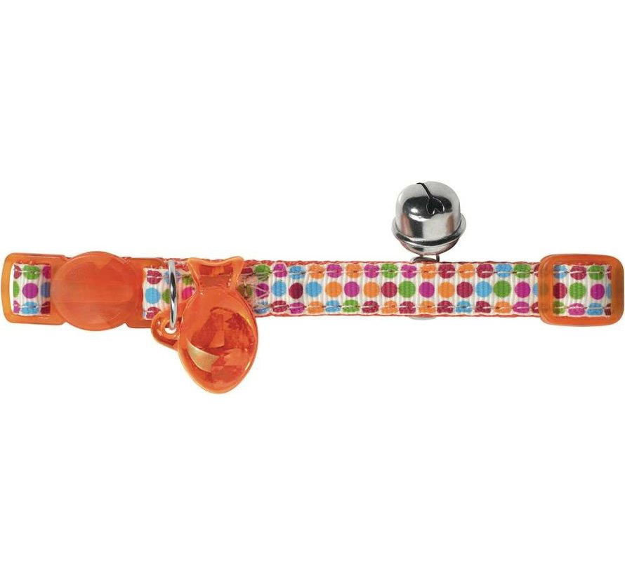 Cat Collar Seventies Orange
