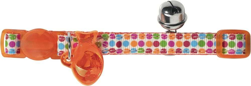 Kattenhalsband Seventies Oranje