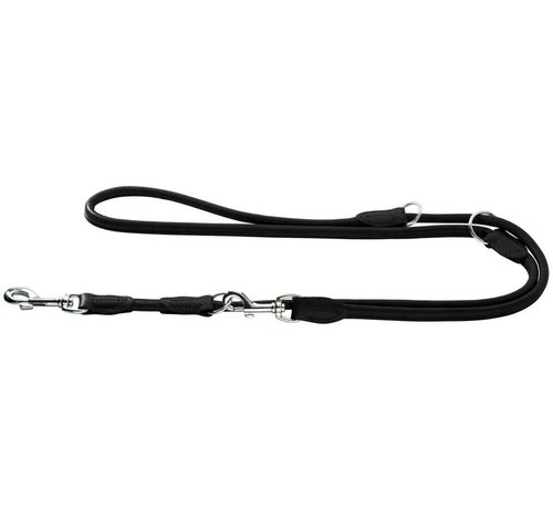 Hunter Dog Leash Round & Soft Elk Black