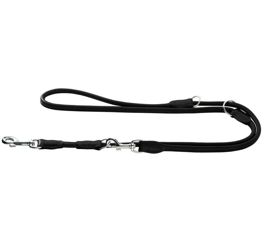 Dog Leash Round & Soft Elk Black