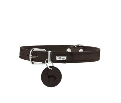 Hunter Dog Collar Aalborg Dark Brown