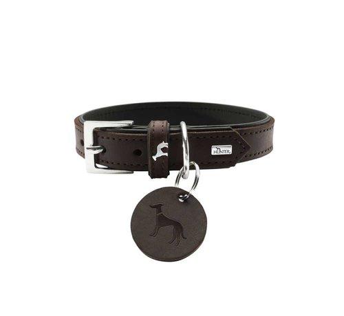 Hunter Dog Collar Larvik Dark Brown