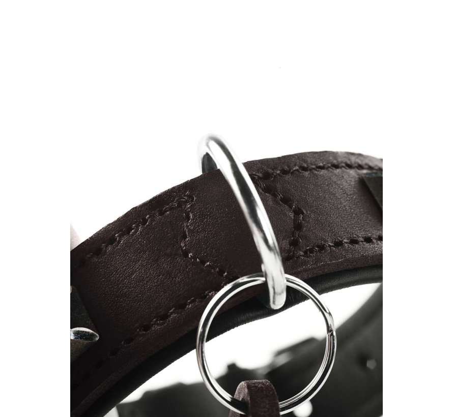 Dog Collar Larvik Style Dark Brown