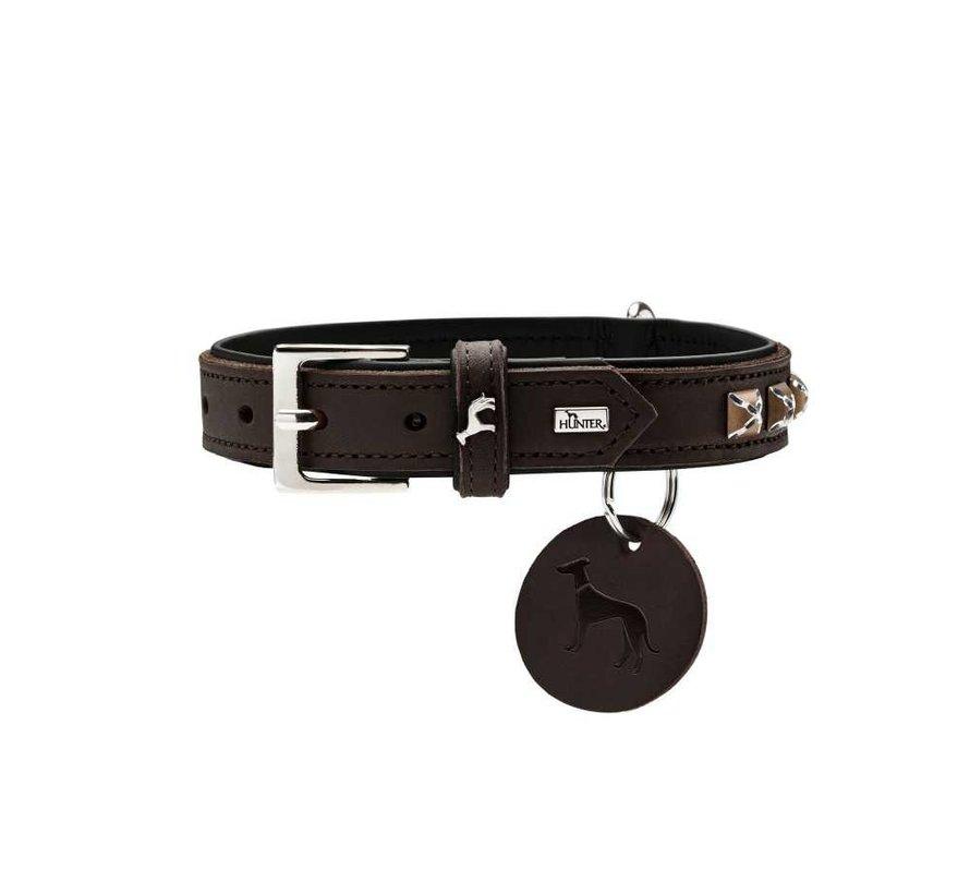 Hondenhalsband Larvik Style Donkerbruin