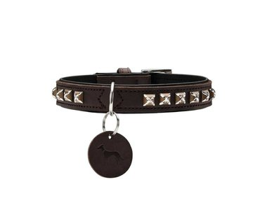 Hunter Dog Collar Larvik Style Dark Brown