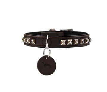 Hunter Hondenhalsband Larvik Style Donkerbruin