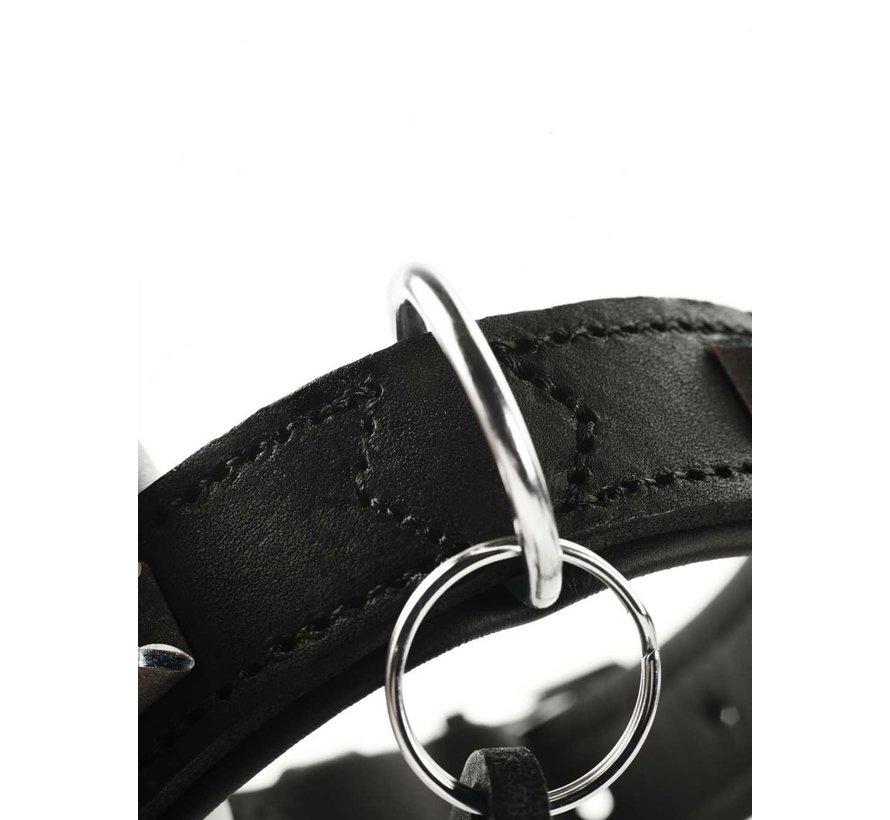 Dog Collar Larvik Style Dark Black