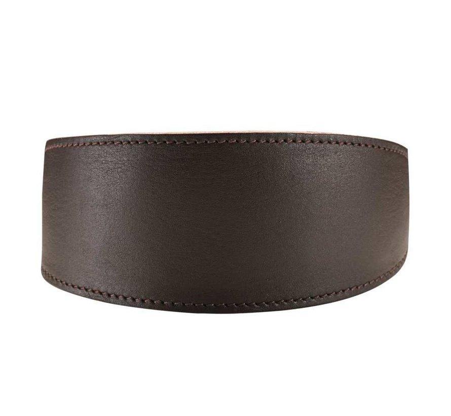 Windhonden Halsband Super Soft Donkerbruin