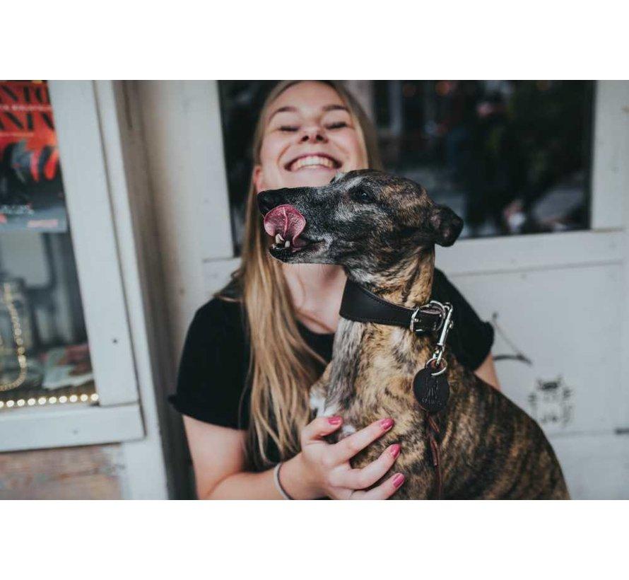 Greyhound Collar Super Soft Dark Brown
