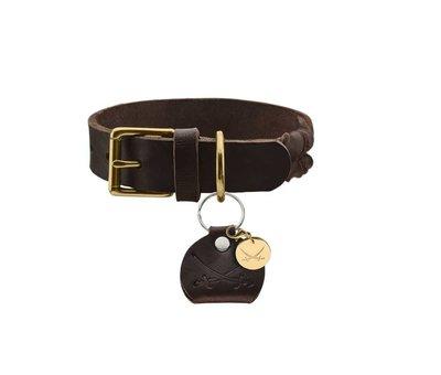 Hunter Hondenhalsband Sansibar Solid Bruin