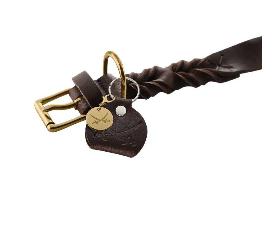Dog Collar Sansibar Solid Brown