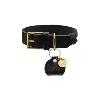 Hunter Hondenhalsband Sansibar Solid Zwart