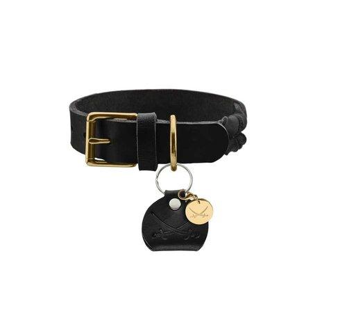 Hunter Dog Collar Sansibar Solid Black