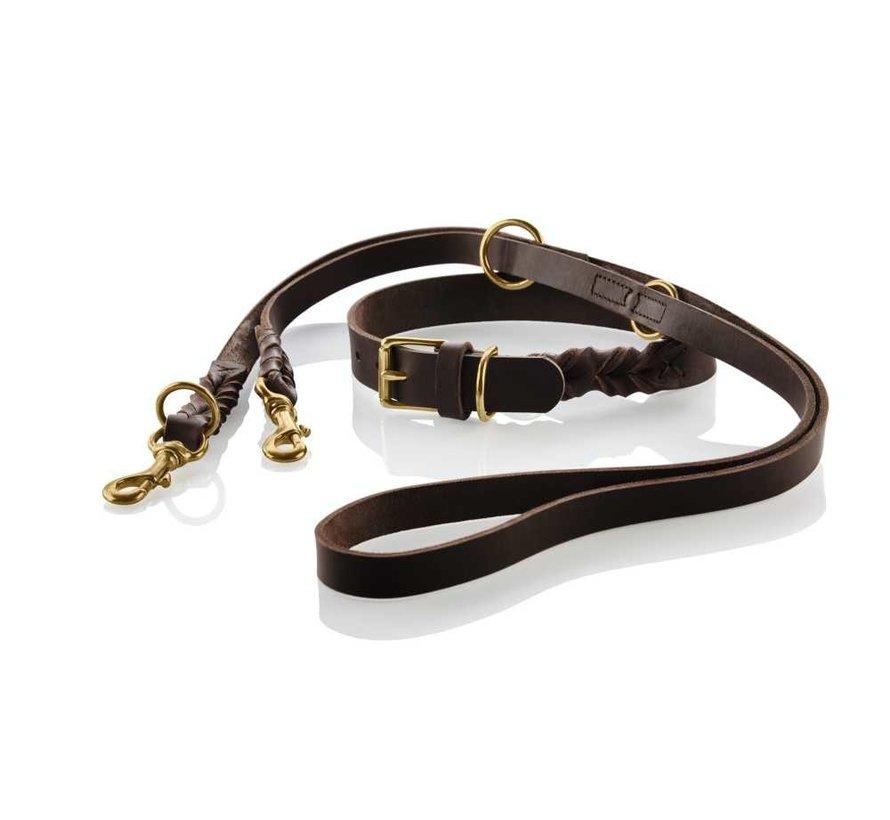 Adjustable Dog Leash Sansibar Solid Brown