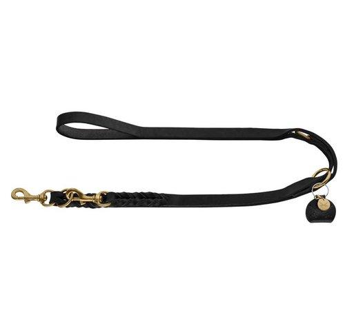 Hunter Verstelbare Hondenriem Sansibar Solid Zwart