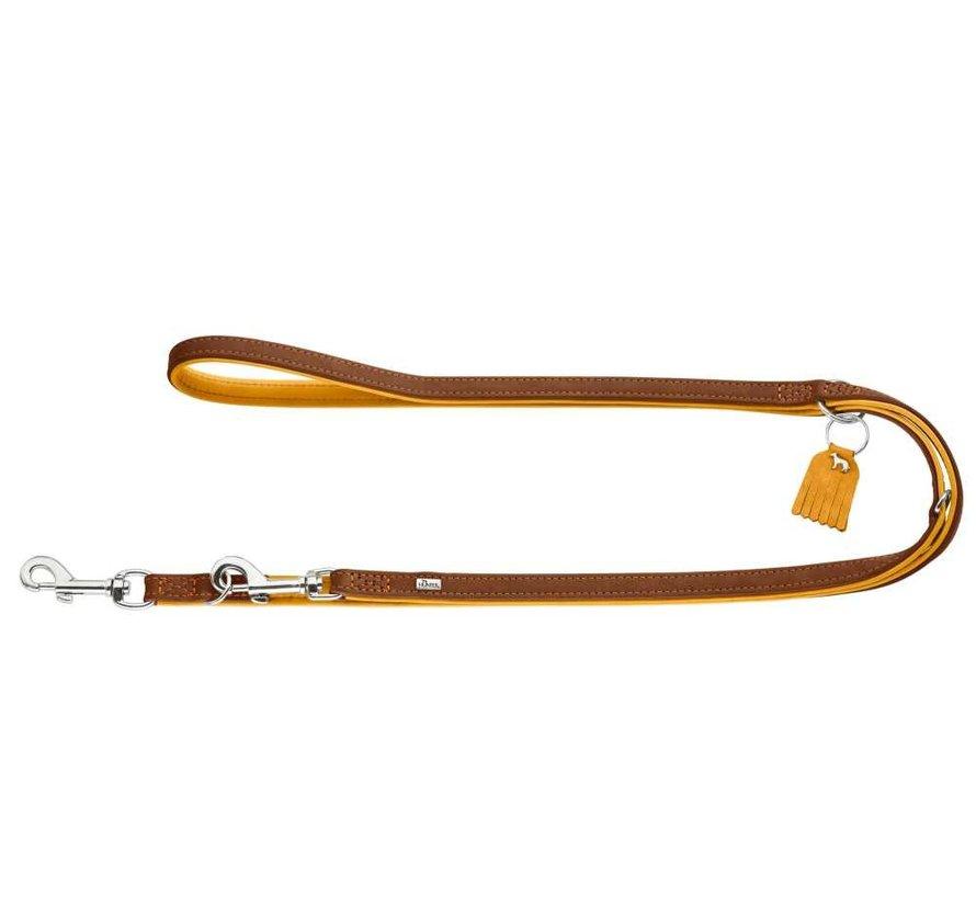 Adjustable Dog Leash Lucca Brown