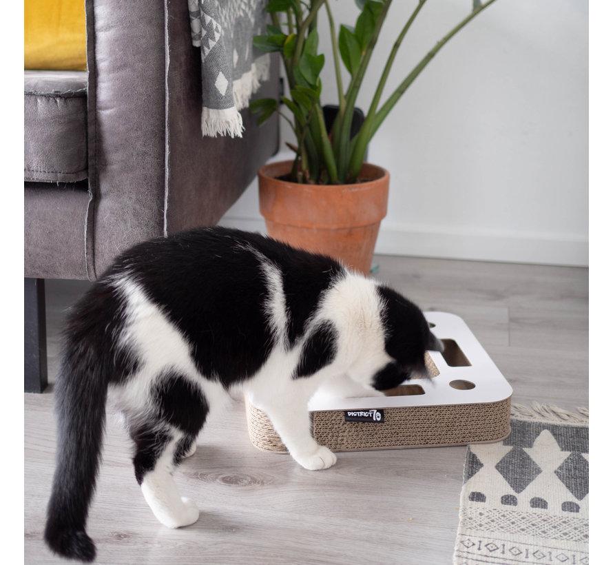 Cat Toy Spy White