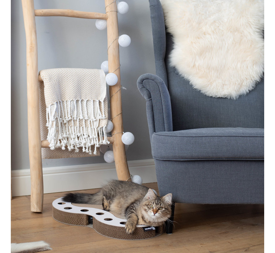 Cat Toy Snake White