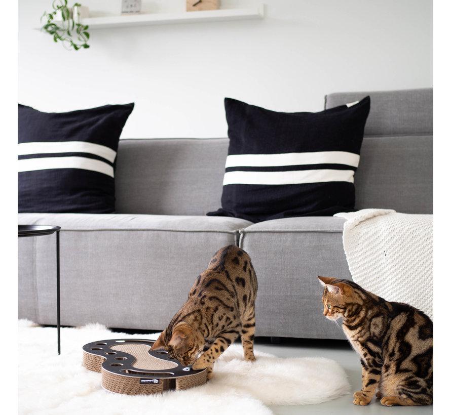 Kattenspeelgoed Snake Zwart