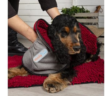 Scruffs Dog Towel Noodle Dry Red