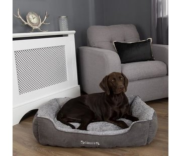 Scruffs Dog Bed Cozy Box Bed Grey