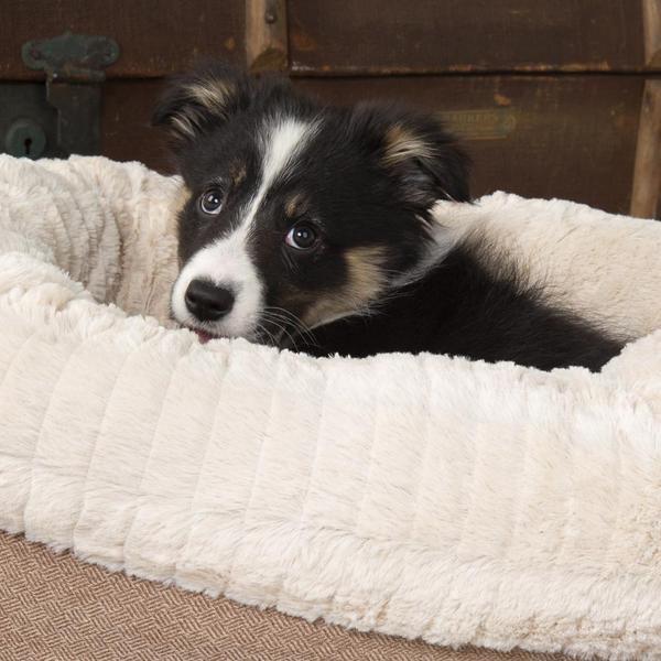 Hondenmand Ellen Donut Beige