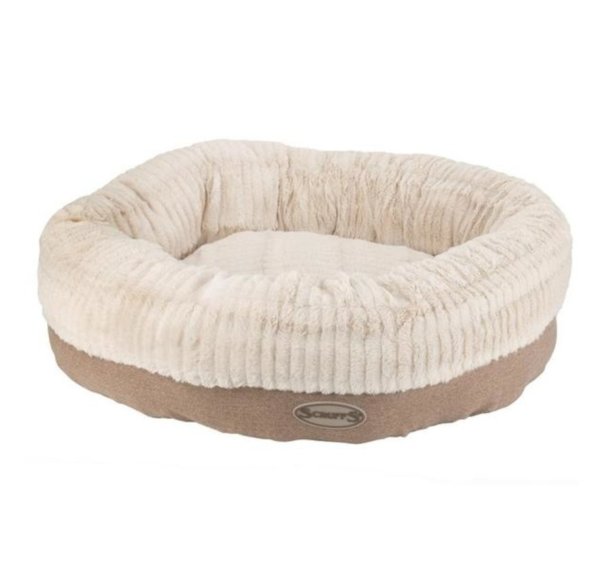 Dog Bed Ellen Donut Beige