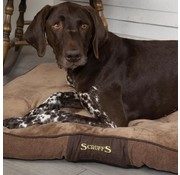 Scruffs Dog Cushion Chester Chocolate