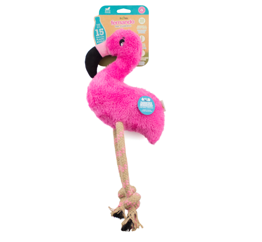 Dog Toy Plush Flamingo