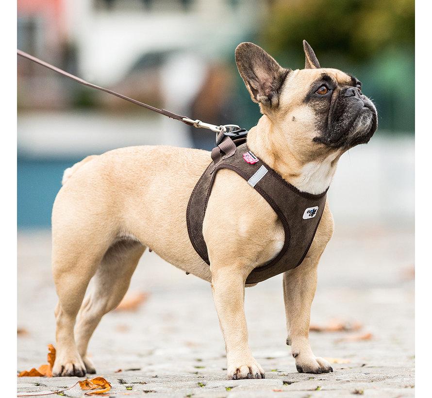 Dog Harness Vest Cord Brown