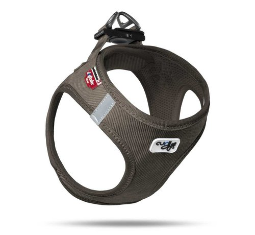 Curli Dog Harness Vest Cord Brown