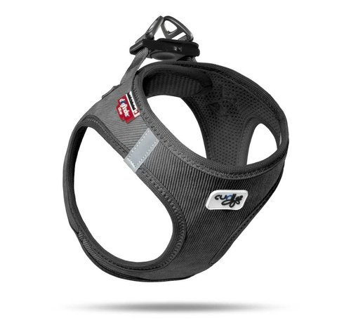 Curli Dog Harness Vest Cord Black
