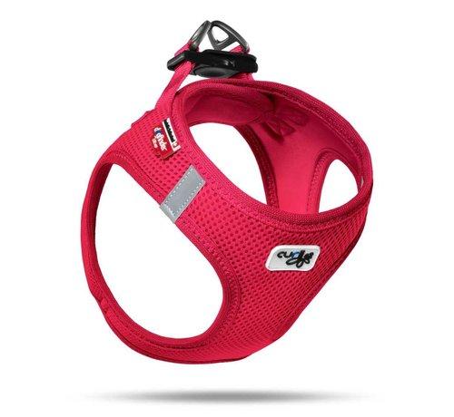 Curli Dog Harness Air Mesh Red
