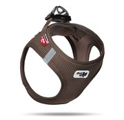 Curli Dog Harness Air Mesh Brown