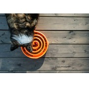 Outward Hound Anti Schrok voerbak Slo-Bowl™ Coral Orange