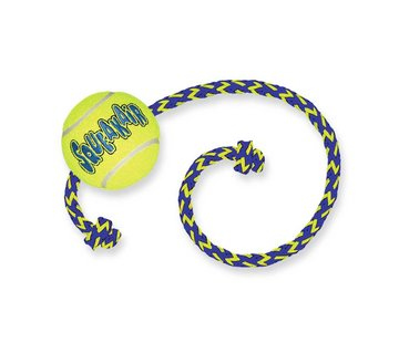 Kong Dog Toy Squeakair Ball with Rope
