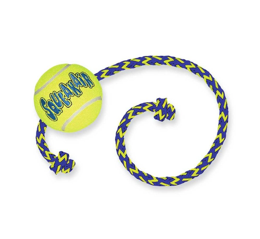 Dog Toy Squeakair Ball with Rope