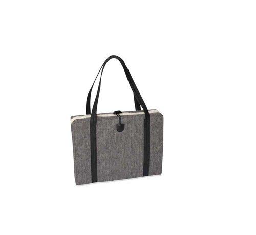 KONA CAVE Portable Dog Cushion Grey Herringbone