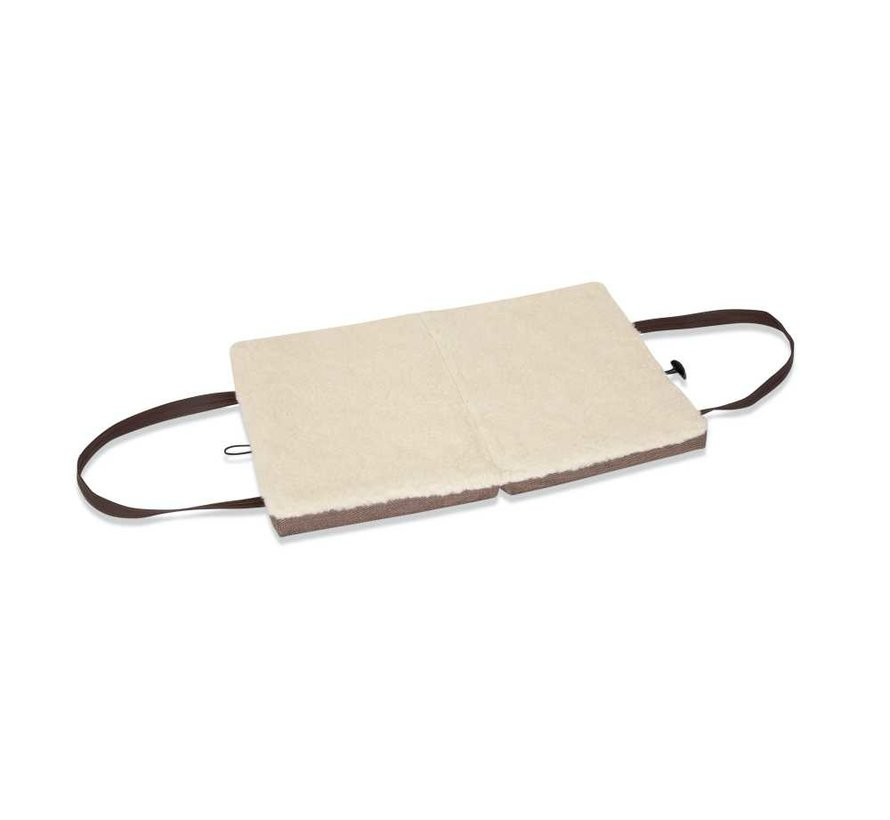 Portable Dog Cushion Brown Herringbone