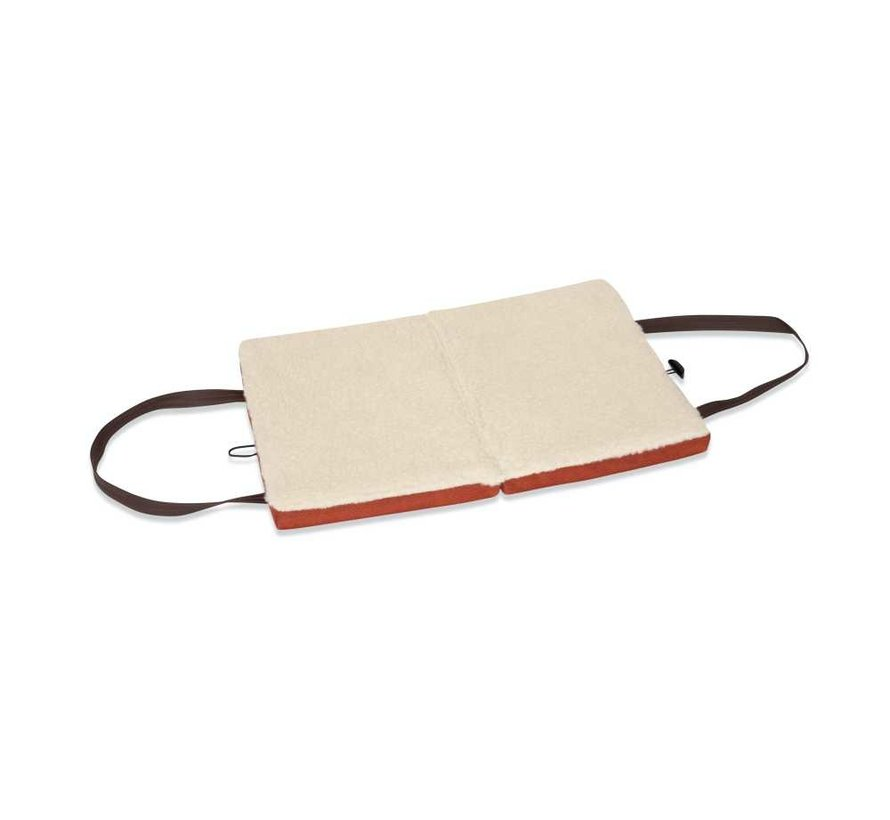 Portable Dog Cushion Orange Herringbone