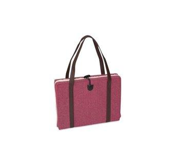 KONA CAVE Portable Dog Cushion Pink Herringbone