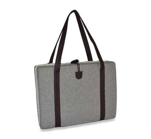 KONA CAVE Portable Dog Cushion Grey Flannel