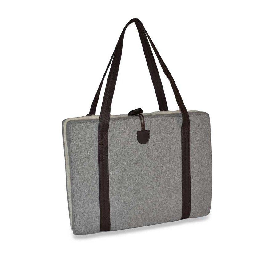 Draagbaar Hondenkussen Grey Flannel